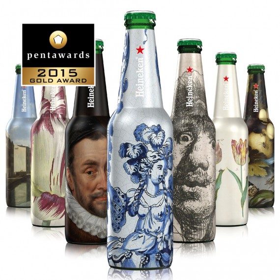 Pentawards 2015 winners, Heineken - The Rijksmuseum Bottles (агентство dBOD)
