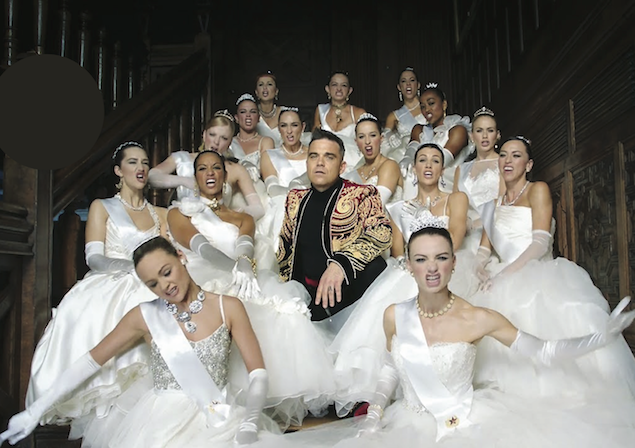 Find Depot WPF in the video for Robbie Williams' new single