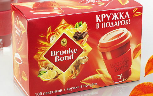 Brooke Bond with a Mug